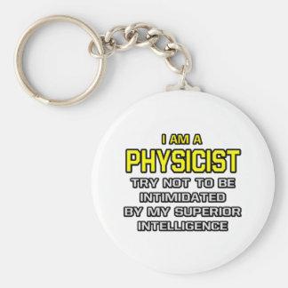 Physicist...Superior Intelligence Basic Round Button Keychain