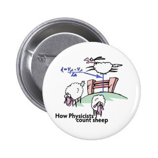 Physicists Counting Sheep Pinback Button