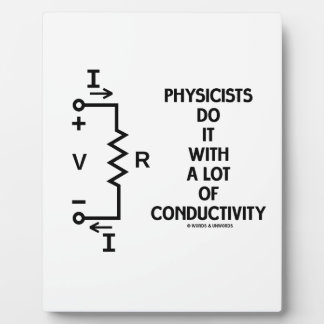 Physicists Do It With A Lot Of Conductivity Plaque