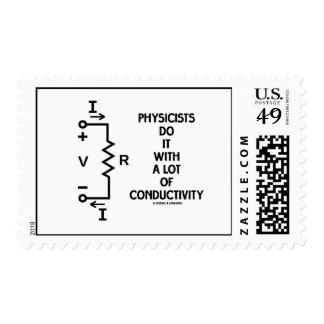 Physicists Do It With A Lot Of Conductivity Postage