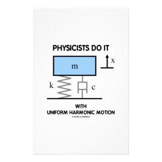 Physicists Do It With Uniform Harmonic Motion Stationery