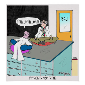 Physicists Meditating Poster