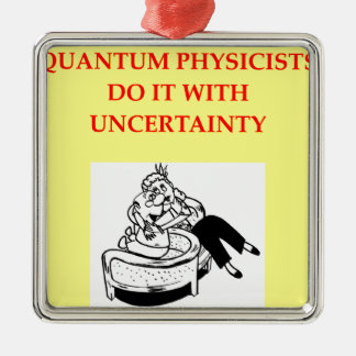 PHYSICISTS SQUARE METAL CHRISTMAS ORNAMENT