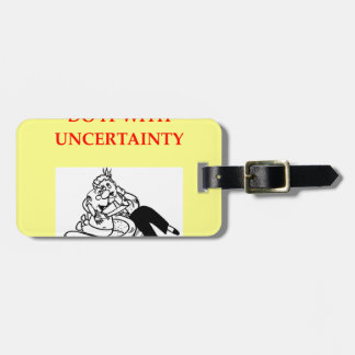 PHYSICISTS TRAVEL BAG TAG