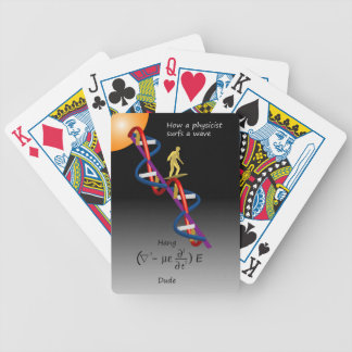 Physics and Surfing Bicycle Playing Cards