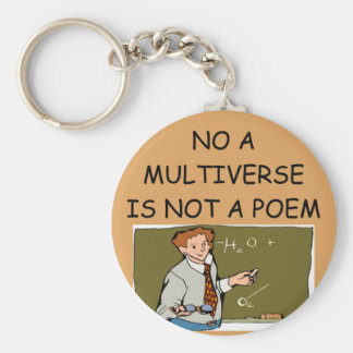 physics and the universe basic round button keychain