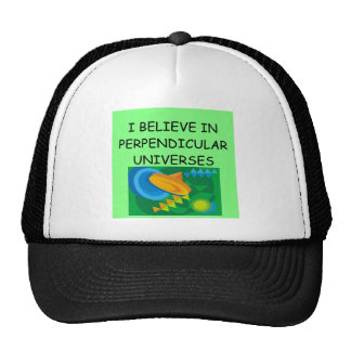 physics and the universe trucker hat