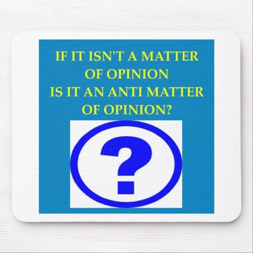 physics anti matter joke mouse pad
