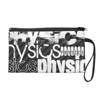 Physics; Black & Dark Gray Stripes Wristlet Clutch