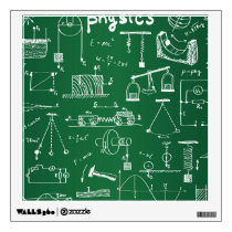 Physics Chalkboard Pattern Wall Decal