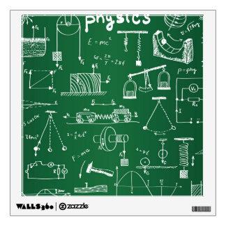 Physics Chalkboard Pattern Wall Decal