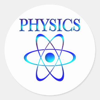 Physics Classic Round Sticker