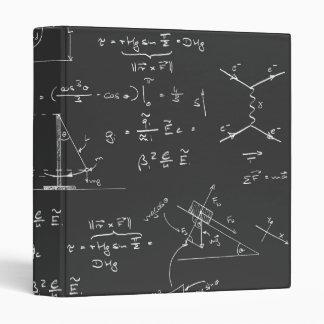 Physics diagrams and formulas 3 ring binder