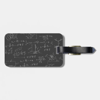 Physics diagrams and formulas bag tag
