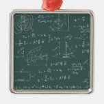 Physics diagrams and formulas christmas ornaments