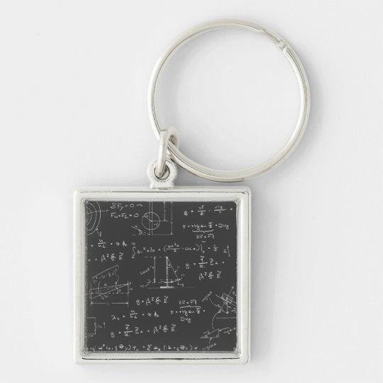 Physics diagrams and formulas keychain