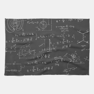 Physics diagrams and formulas kitchen towel