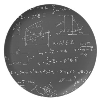 Physics diagrams and formulas melamine plate