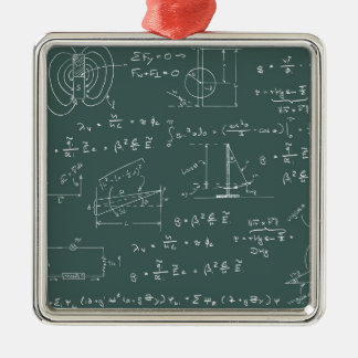 Physics diagrams and formulas metal ornament