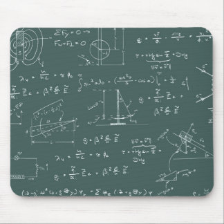 Physics diagrams and formulas mouse pad