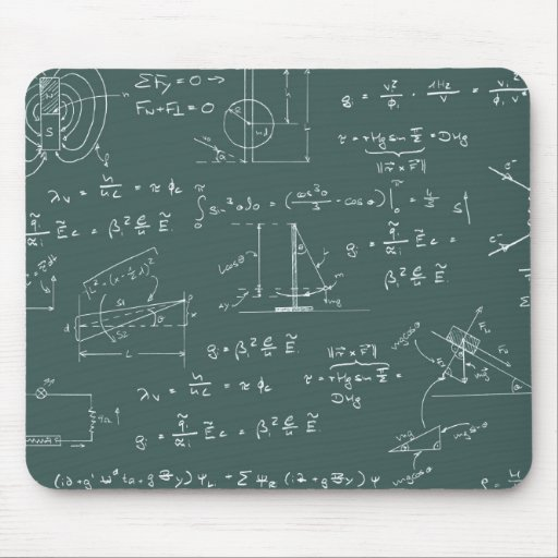 Physics diagrams and formulas mouse pads