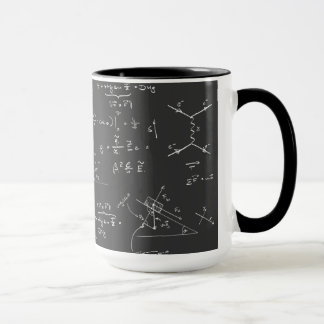 Physics diagrams and formulas mug