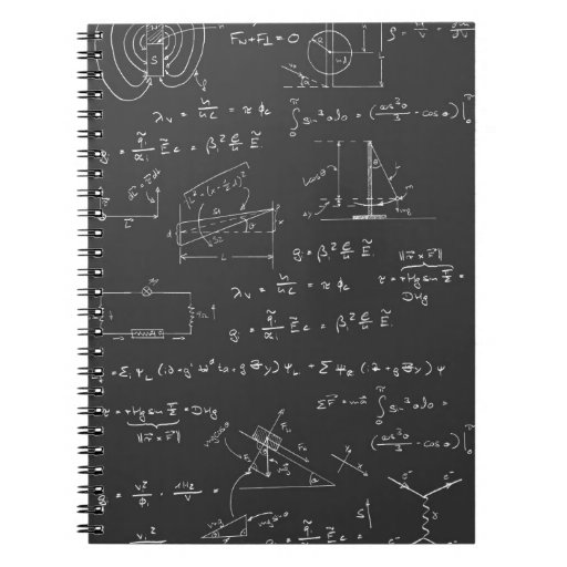 Physics diagrams and formulas spiral note books