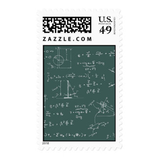 Physics diagrams and formulas postage