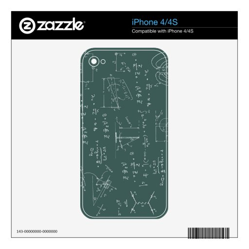 Physics diagrams and formulas skins for the iPhone 4S