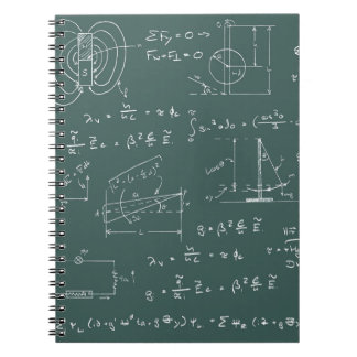Physics diagrams and formulas spiral notebook