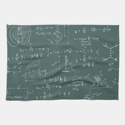 Physics Diagrams And Formulas Towel