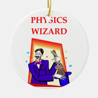 physics Double-Sided ceramic round christmas ornament