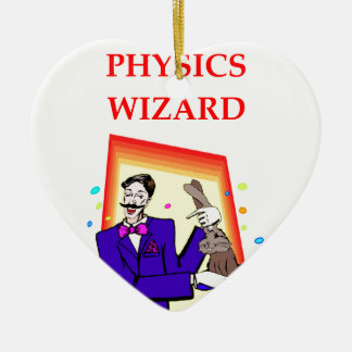 physics Double-Sided heart ceramic christmas ornament
