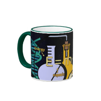 Physics E=mc2 colorful design Ringer Mug