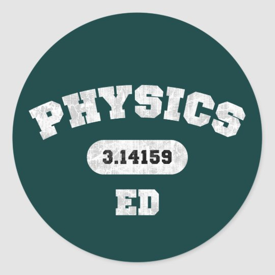 Physics Ed Classic Round Sticker