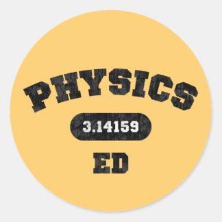 Physics Ed Classic Round Sticker