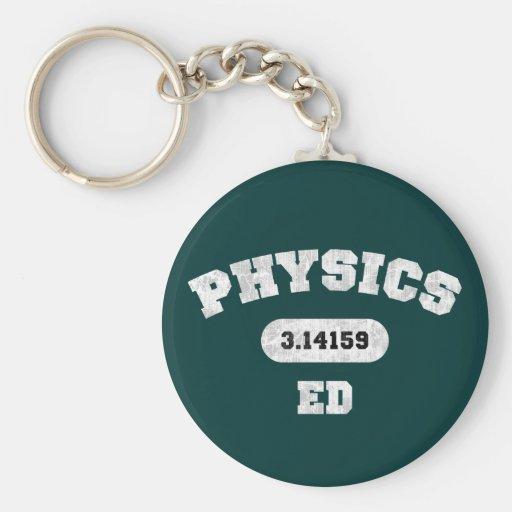 Physics Ed Keychain