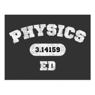 Physics Ed Post Card