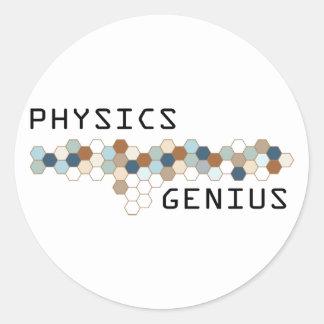 Physics Genius Classic Round Sticker