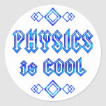 Physics Is Cool Round Sticker