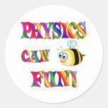 Physics is Fun Round Sticker