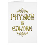 PHYSICS is Golden Greeting Cards