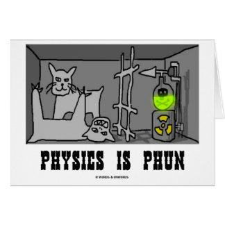 Physics Is Phun (Fun) (Schrödinger's Cat Thought) Card