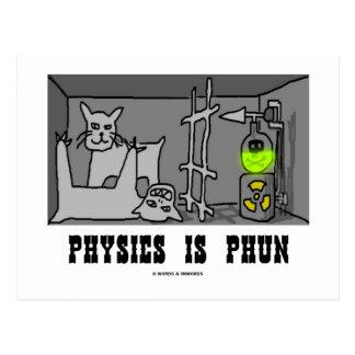 Physics Is Phun (Fun) (Schrödinger's Cat Thought) Postcard
