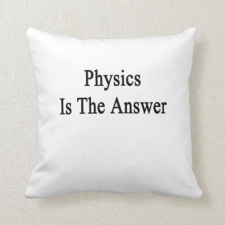 Physics Is The Answer Pillow