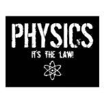 Physics - It's the Law! Postcard