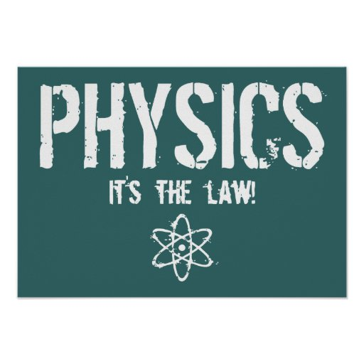 Physics - It's the Law! Posters