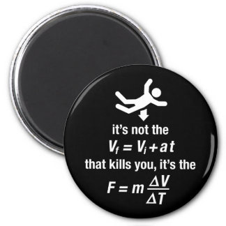 physics - it's the sudden deceleration that kills  2 inch round magnet