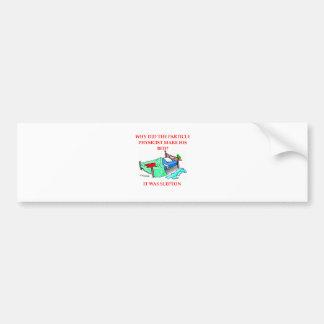 physics joke bumper sticker