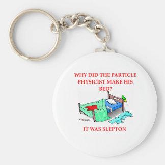 physics joke key chain
